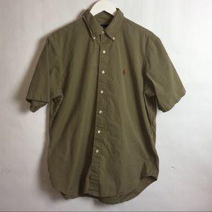 Ralph Lauren  Short Sleeve Botton Up Shirt Large